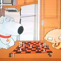 Family Guy Episope playing Chess