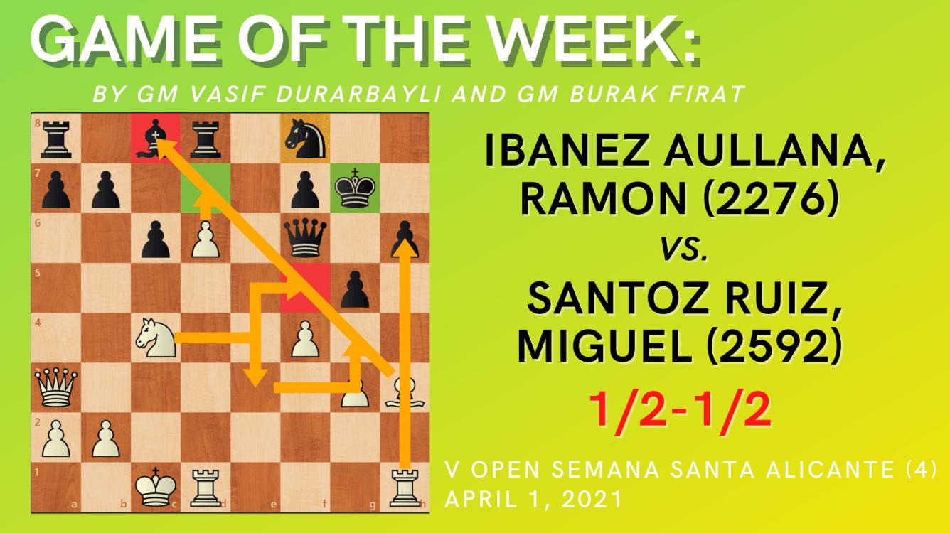 Game of the Week XIII- Ibanez Aullana,Ramon (2276) vs. Santoz Ruiz,Miguel (2592)