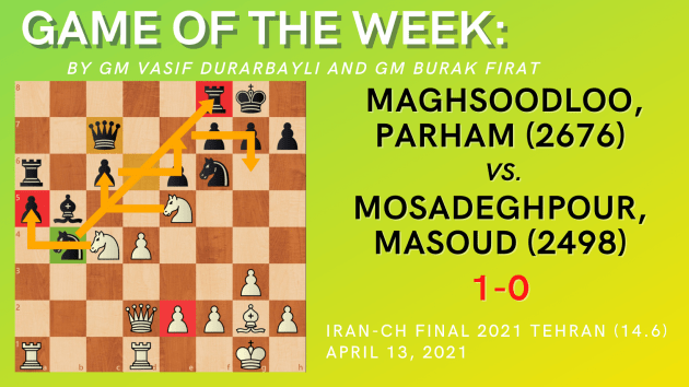 Game of the Week XV- Maghsoodloo,Parham (2676) vs. Mosadeghpour,Masoud (2498)