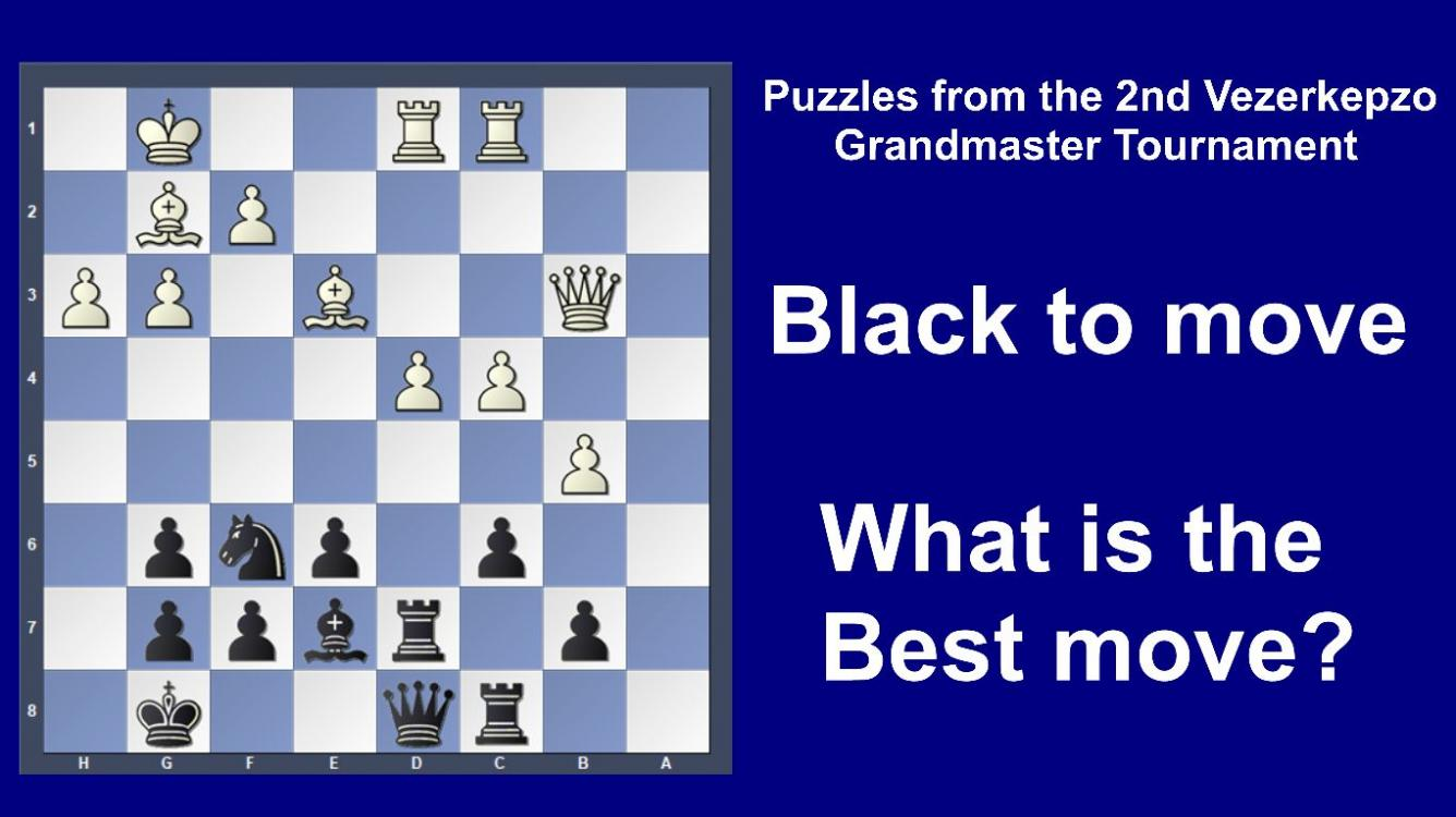 Road to the Grandmaster title - Puzzles from the Grandmaster tourney games - part 3