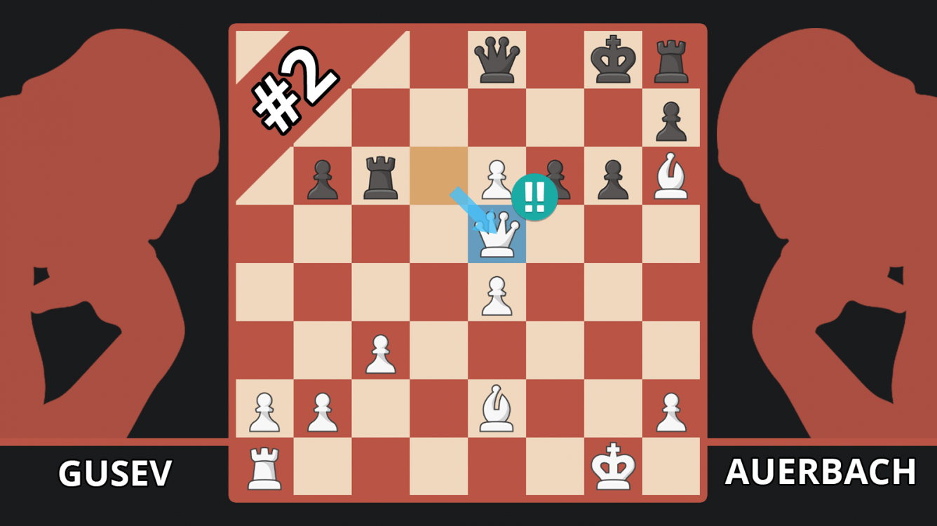 The Spectacular Winning Queen Sacrifice Chess Computers Don't Understand - Gusev vs. Auerbach, 1946
