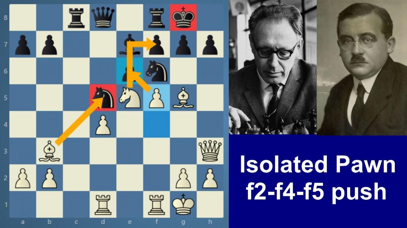 Botwinnik-Vidmar | Isolated Pawn | f2-f4-f5 push