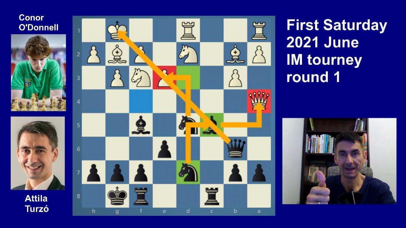 Road to the Grandmaster title   June IM round 1   O'Donnell-Turzo   Slav Sacrifice