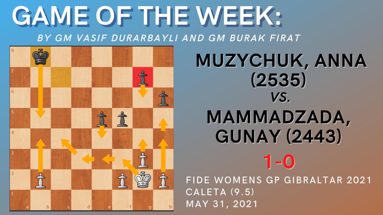 Game of the Week XXII- Muzychuk,Anna (2535) - Mammadzada,Gunay (2443)