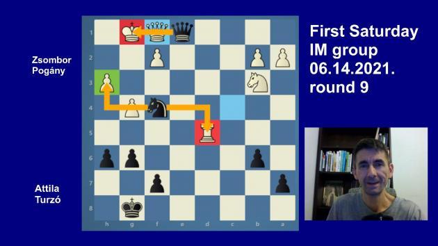 Road to the Grandmaster title   June IM round 9   Pogány-Turzo