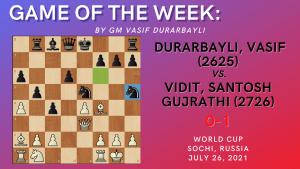 Game of the Week XXX- Durarbayli,V (2625) - Vidit,G (2726)