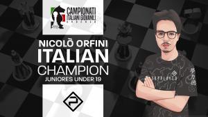 Nicolò Orfini vince il Campionato Italiano Juniores Under 19!