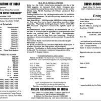 Biggest ever prize money (Rs.15 lacs) for CHESS tournament Dec 23 to 29