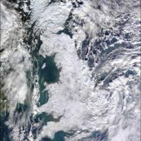 UK from above, the cold snap
