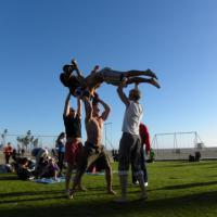 My Friends playing on the Muscle Beach
