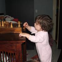 my baby playing chess