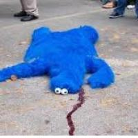 cookie monster is sad