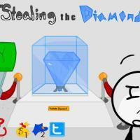 Stealing the diamond.