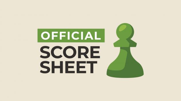 Chess Score Sheet (+ Free PDF Template)