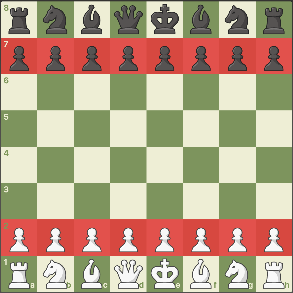 pawn starting position