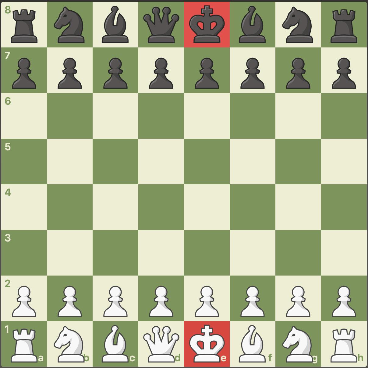 king starting position