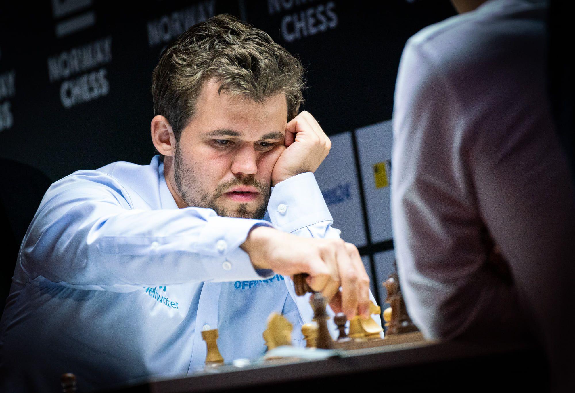 Magnus Carlsen close-up