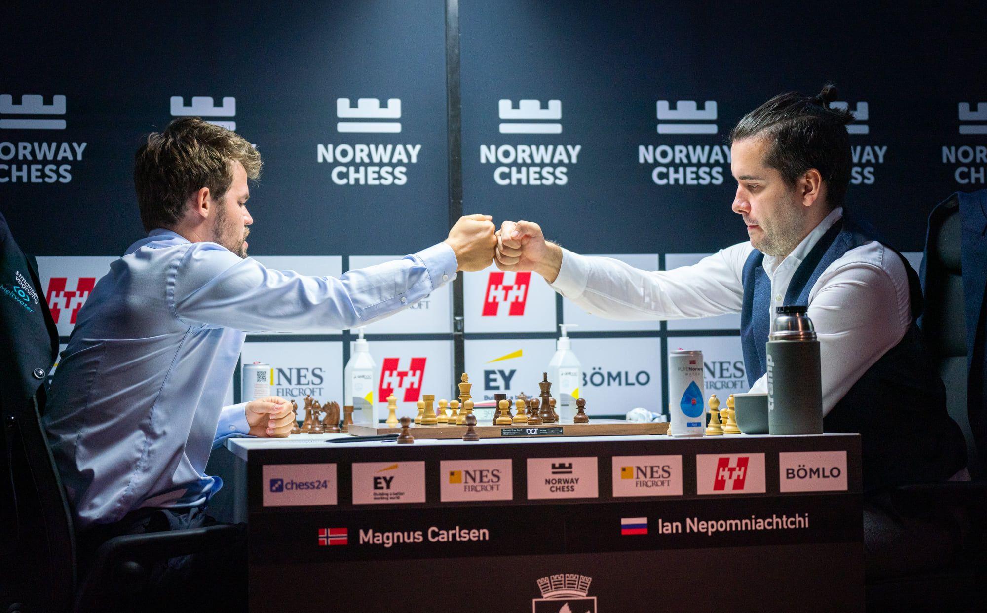 Carlsen Nepomniachtchi Noruega Xadrez 2021