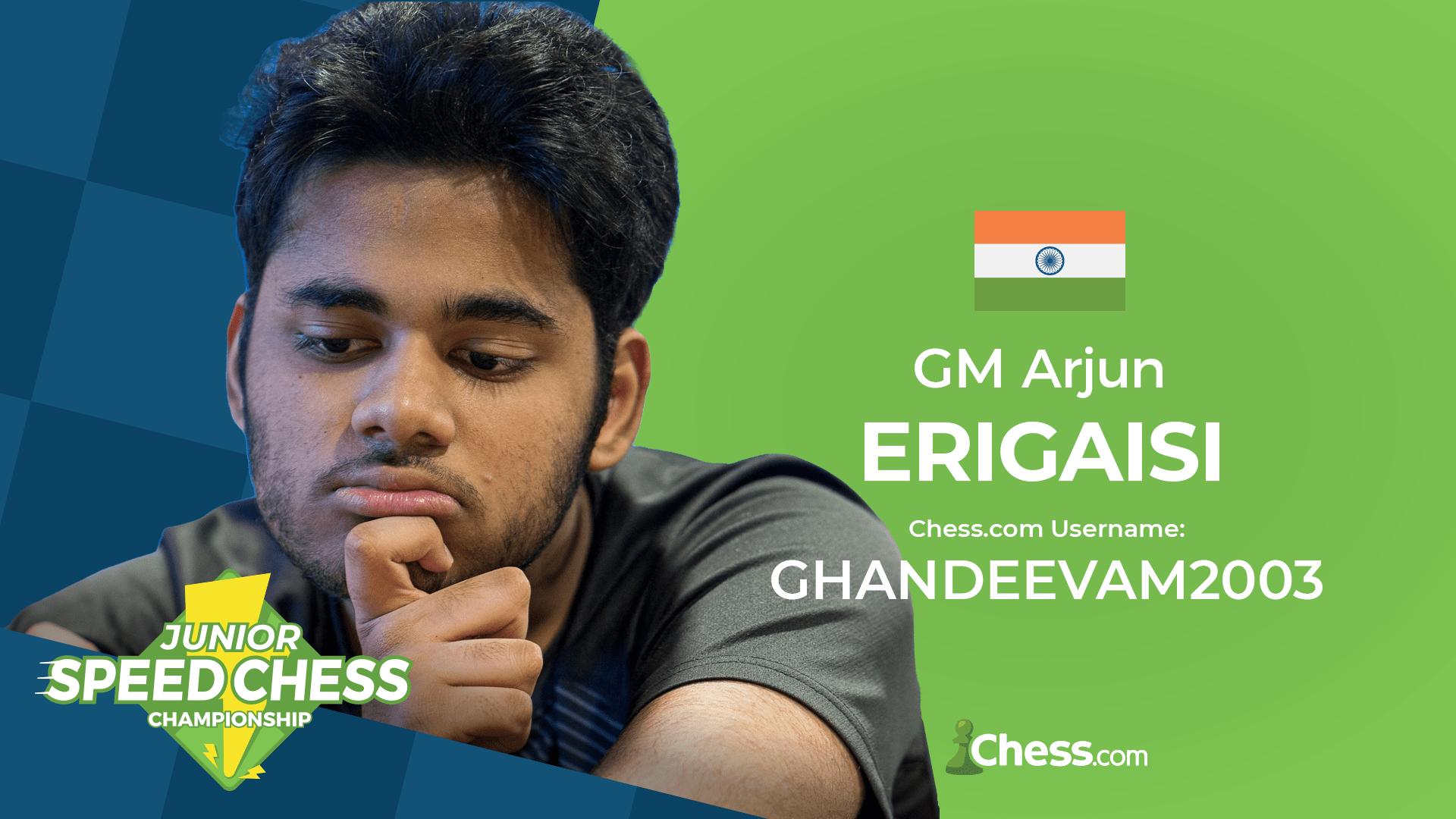 Arjun Erigaisi Speed Chess