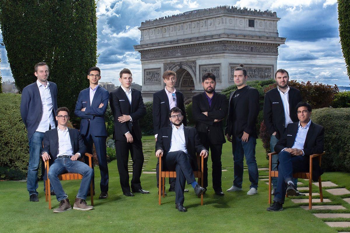 2019 Paris Grand Chess Tour participants