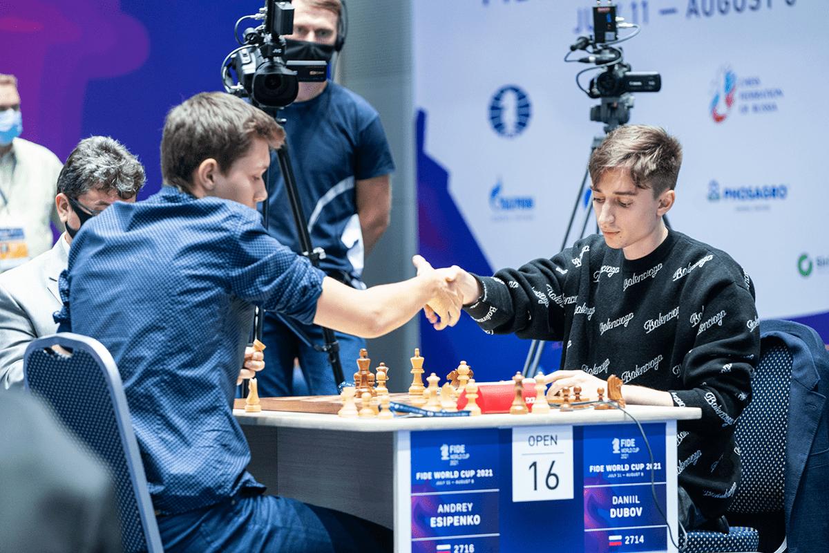 Esipenko Dubov FIDE World Cup 2021