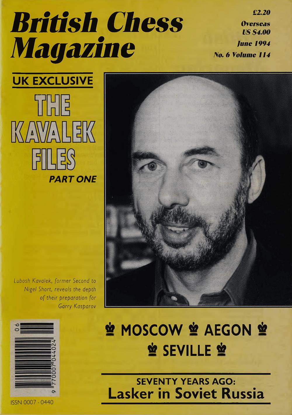 Kavalek Files British Chess Magazine