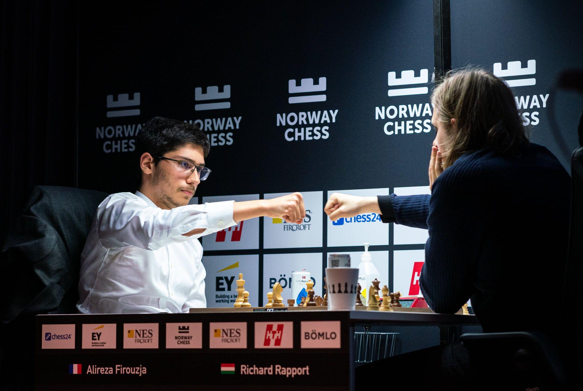 Firouzja Rapport 2021 Norway Chess