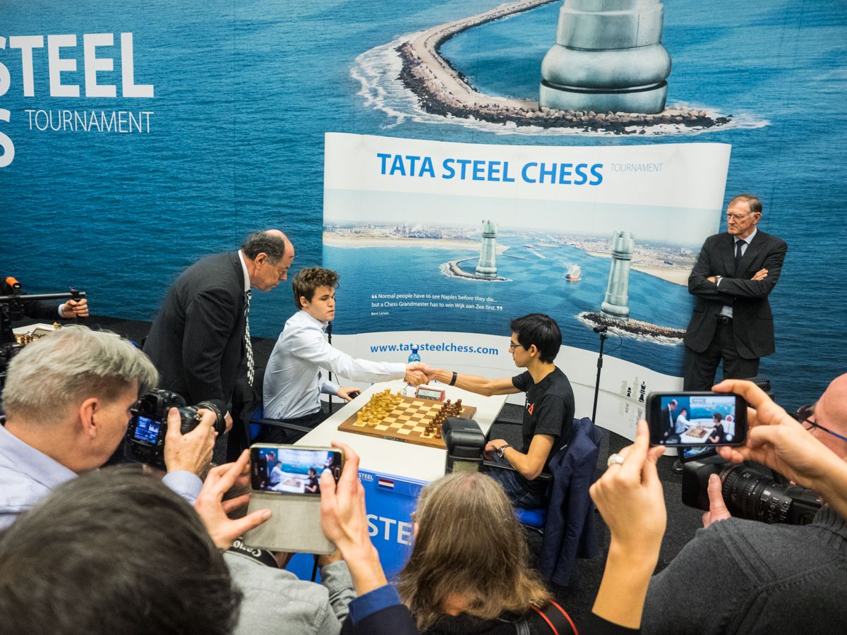 Playoff Carlsen vs Giri Wijk aan Zee Tata Steel 2018