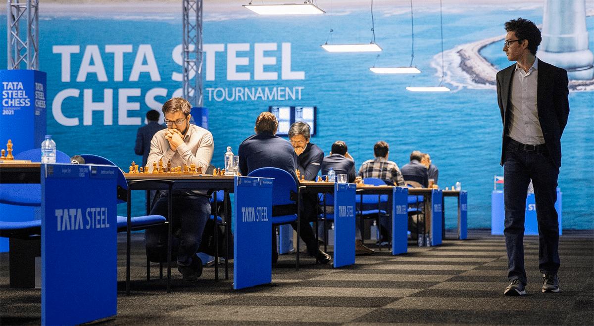 Caruana Vachier-Lagrave Tata Steel Chess 2021