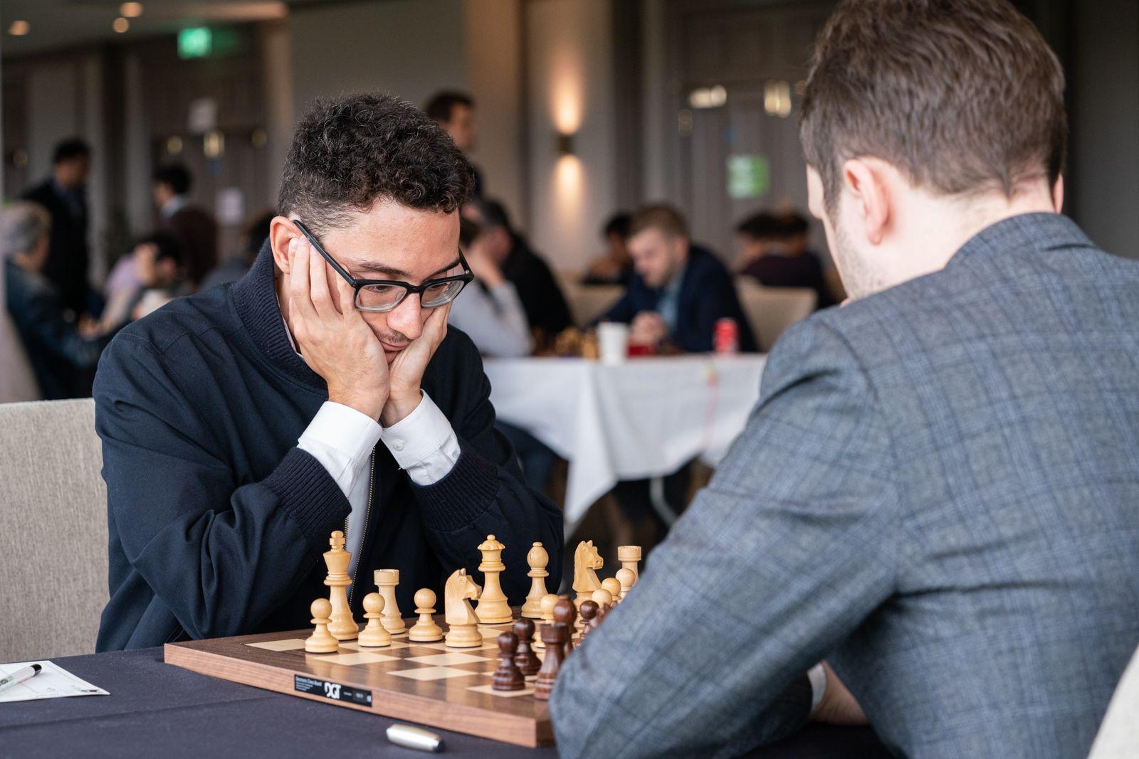 Caruana, Wang Hao Lead FIDE Chess.com Grand Swiss At Half