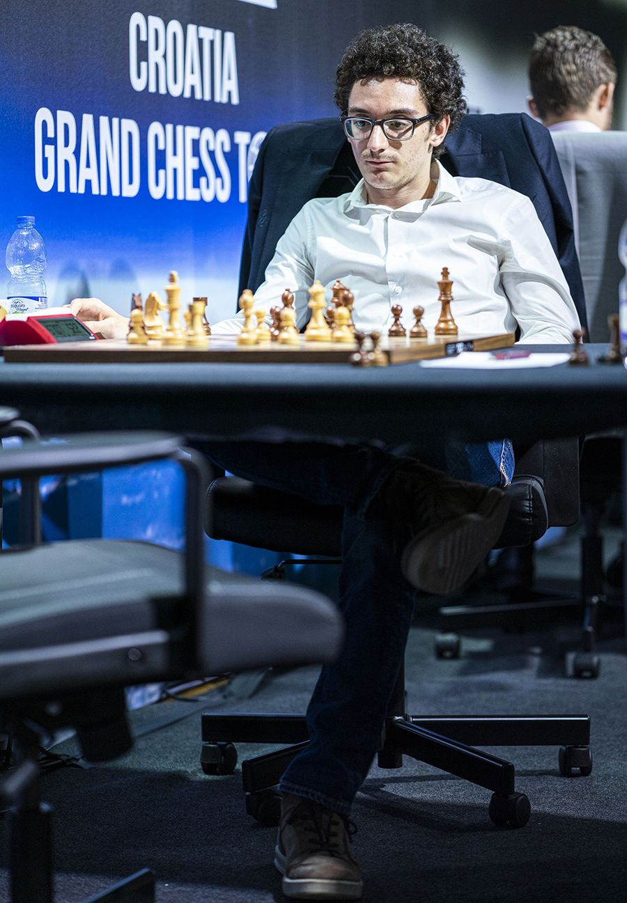 Caruana looked calm but burnt way too much time on his clock. | Photo: Lennart Ootes/Grand Chess Tour