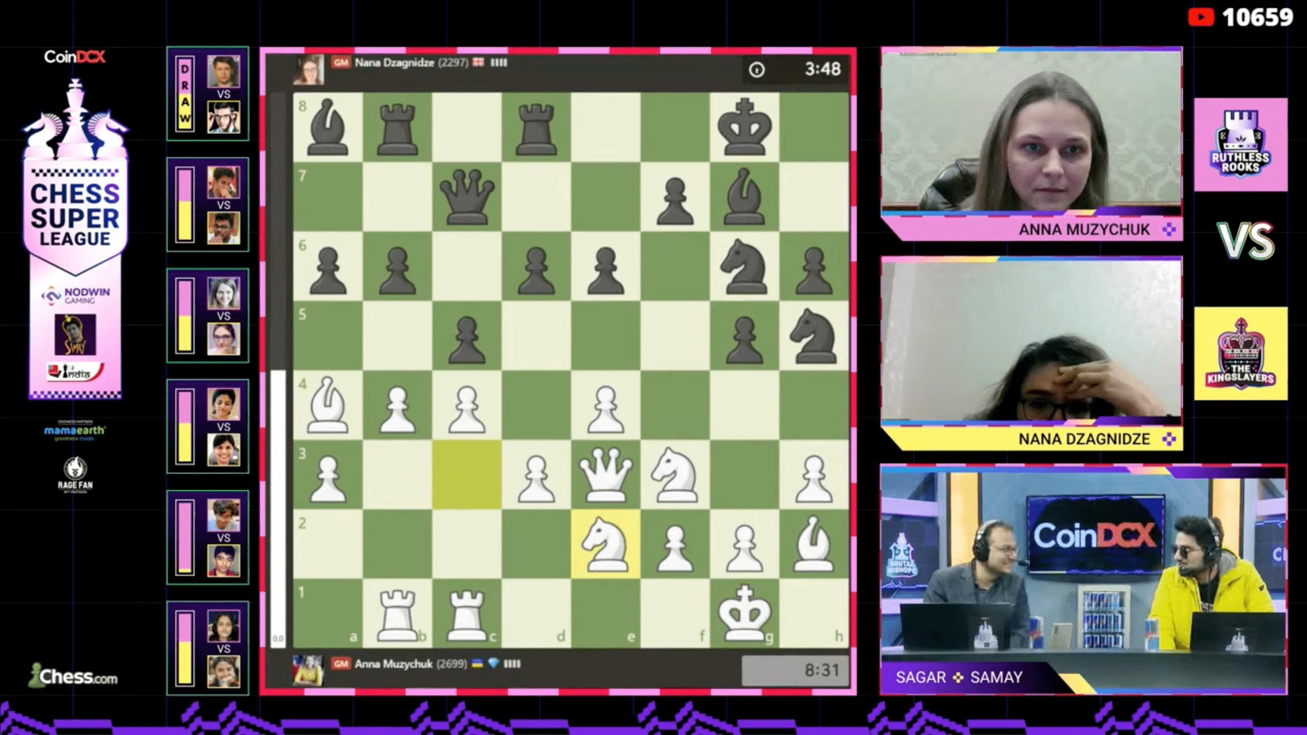 Muzychuk Dzagnidze Super League chess