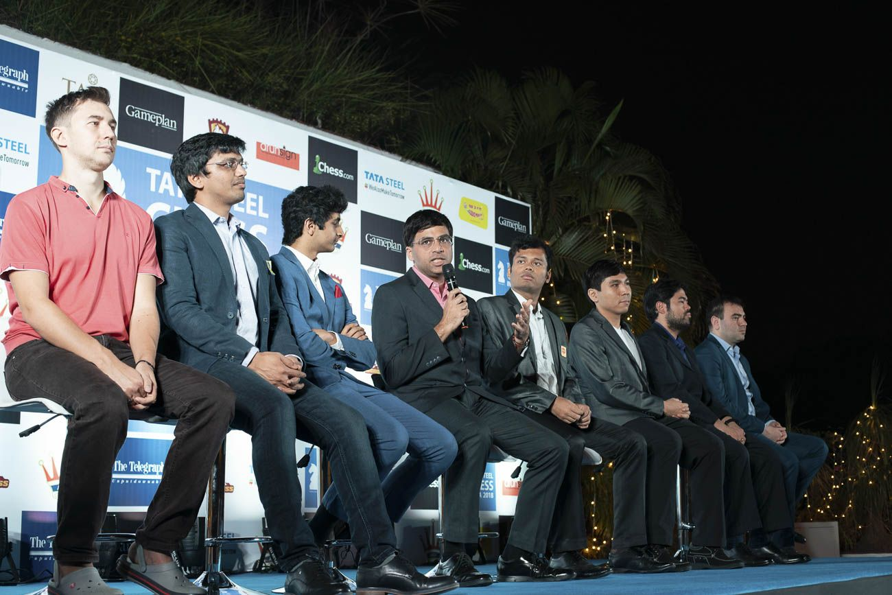 Anand opening ceremony Tata Steel India Chess 2018