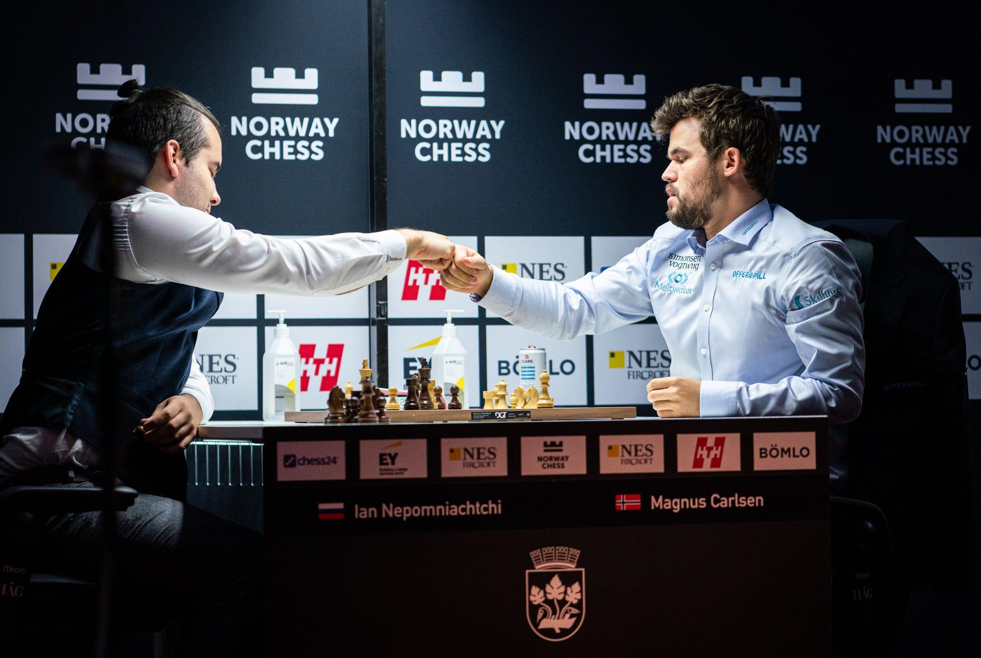 Carlsen Nepomniachtchi Armageddon 2021 Norway Chess