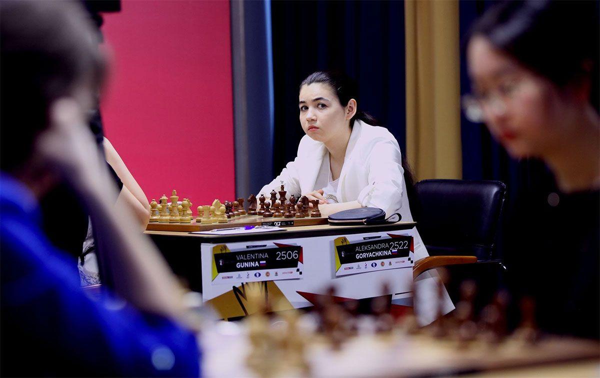 Playing the perfect Caro-Kann! Goryachkina takes it one game at a time. | Photo: FIDE.