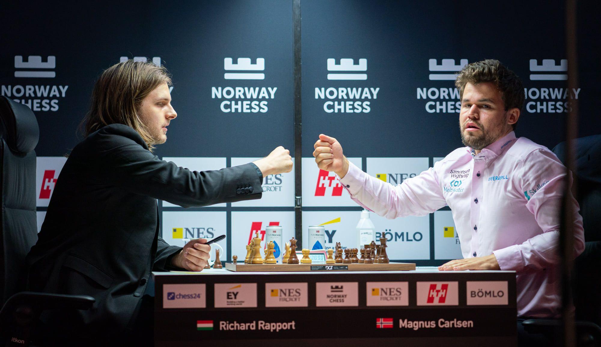 Rapport Carlsen sorteio de xadrez da Noruega em 2021