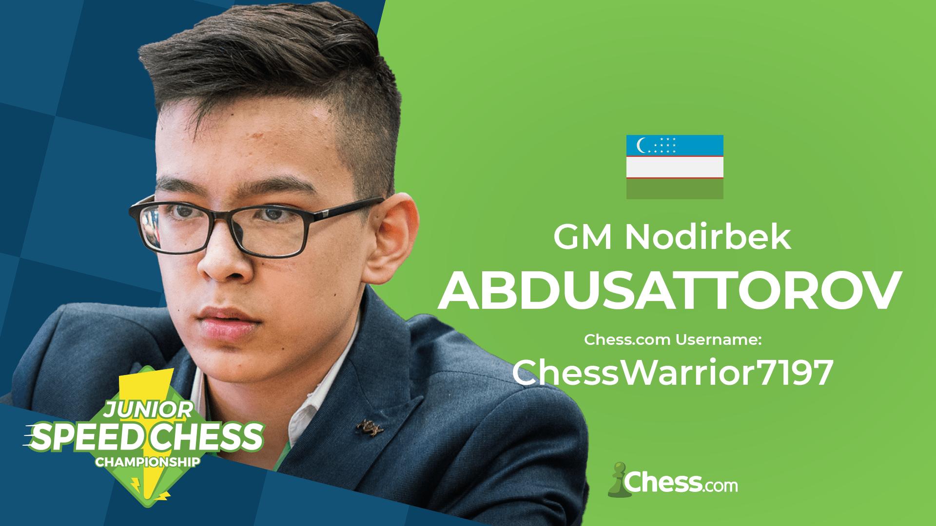 Nodirbek Abdusattorov Speed Chess