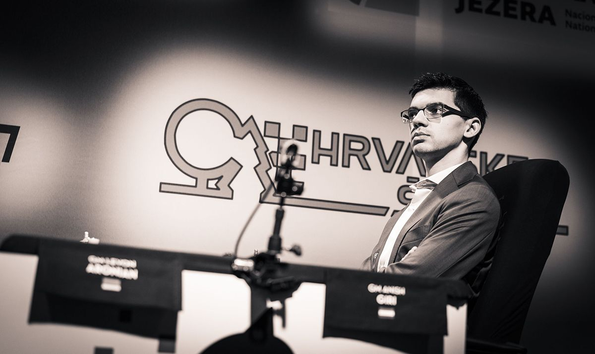 Giri equalized comfortably with Black. | Photo: Lennart Ootes/Grand Chess Tour