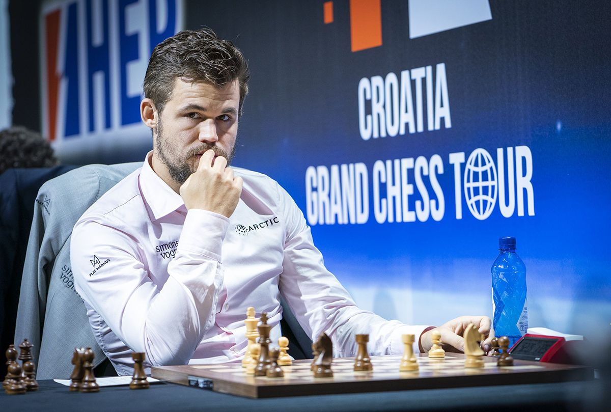 Carlsen keeping a watchful eye on the Norwegian bid for the 2020 World Chess Championship. | Photo: Lennart Ootes/Grand Chess Tour