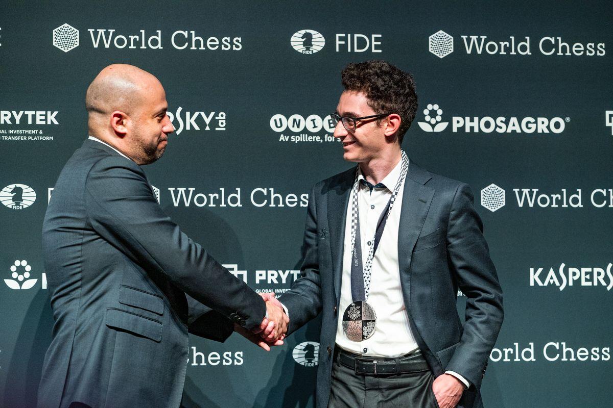Ilya Merenzon 2018 World Chess Championship Carlsen Caruana Closing Ceremony