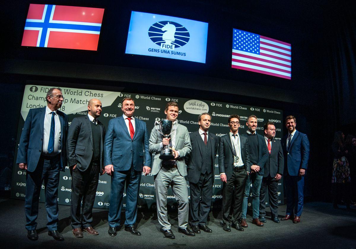 2018 World Chess Championship Carlsen Caruana Closing Ceremony