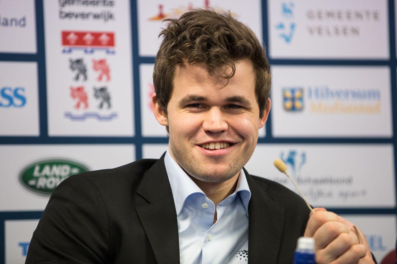 Magnus Carlsen, press conference Wijk aan Zee 2018