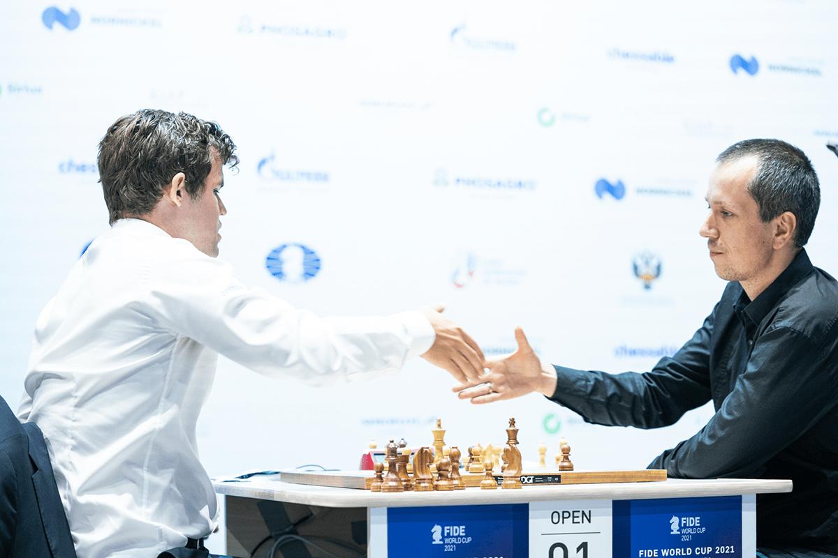 Carlsen Wojtaszek World Cup tiebreak 2021