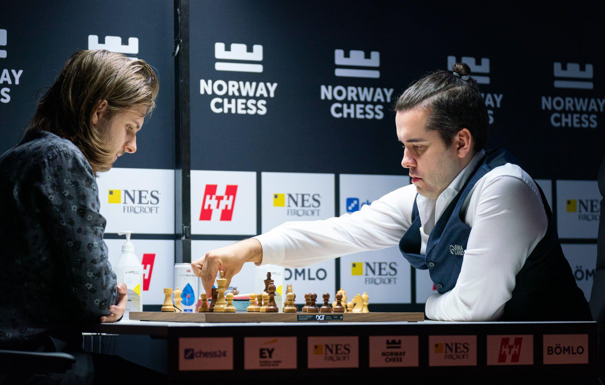 Rapport Nepomniachtchi Xadrez da Noruega 2021