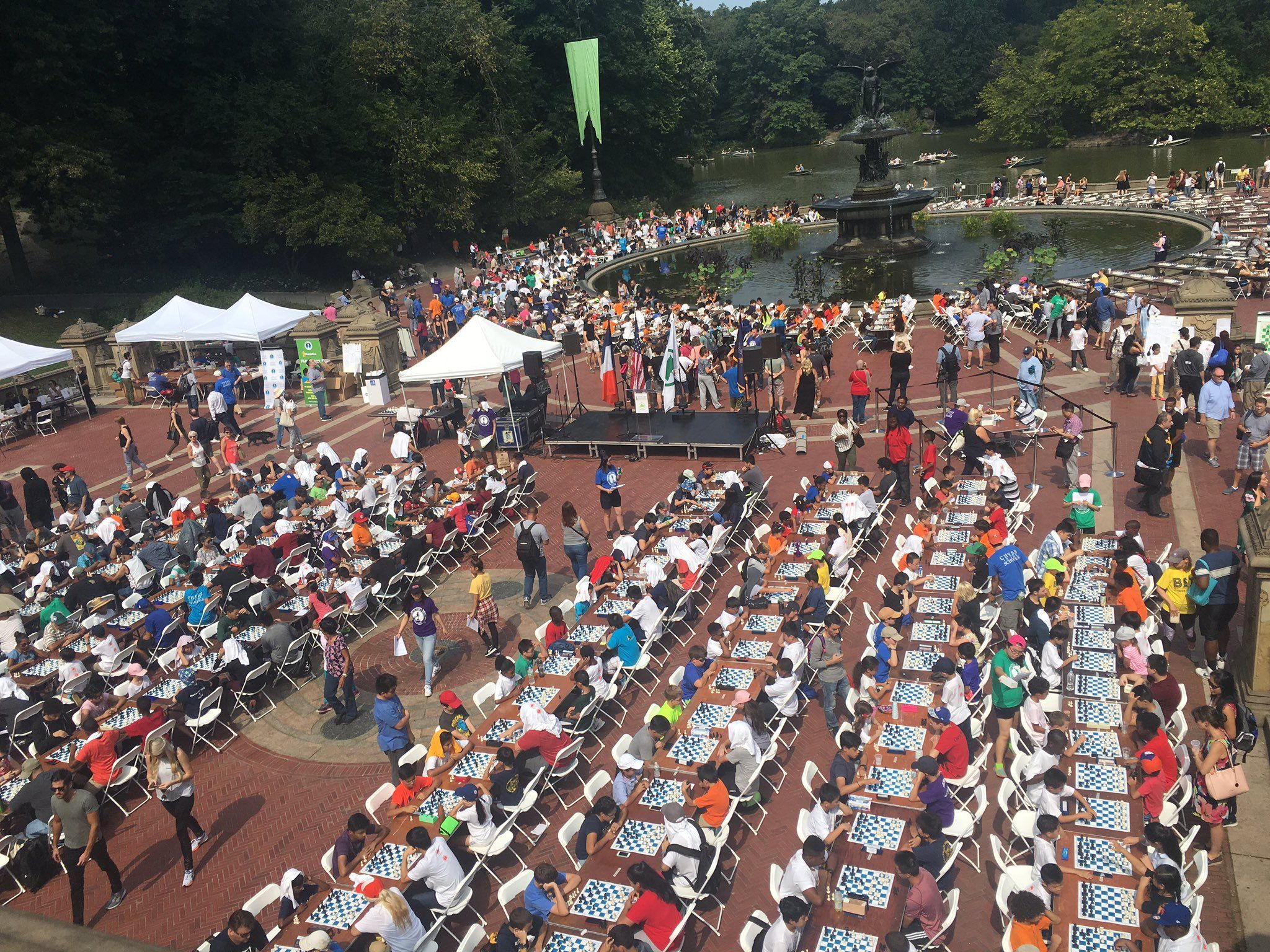 Chess Players In Central Park | Robert Hess