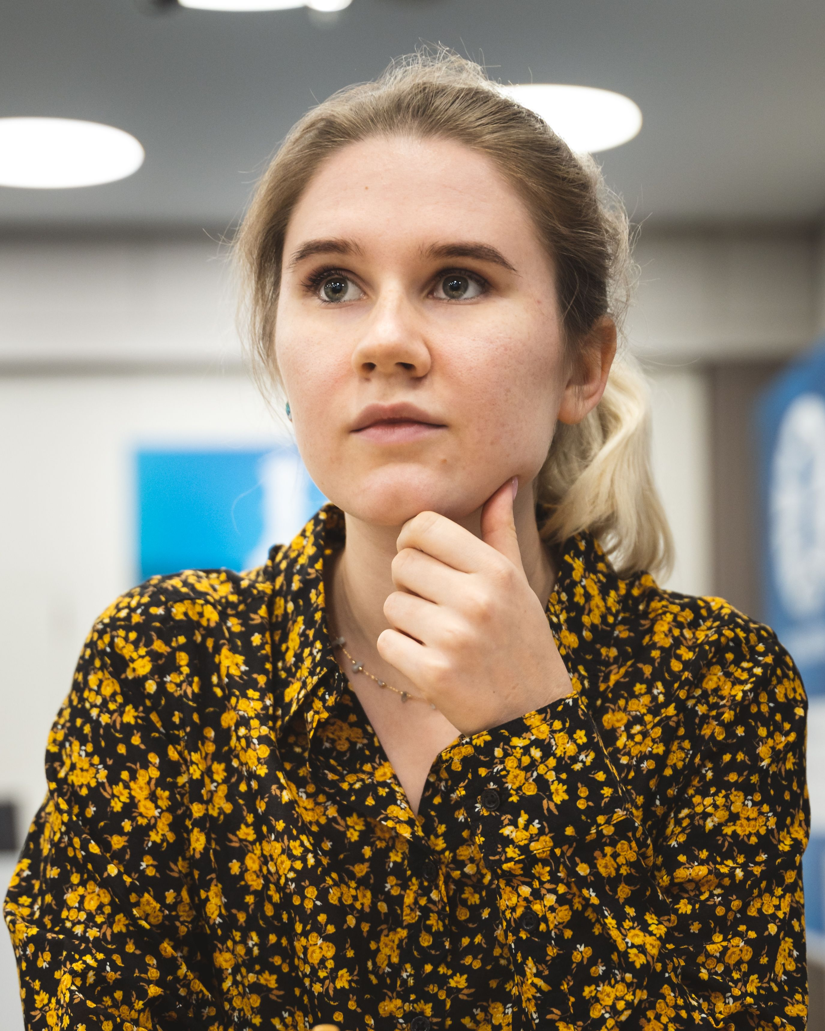 Russian IM Polina Shuvalova at the Women's World Team Championship