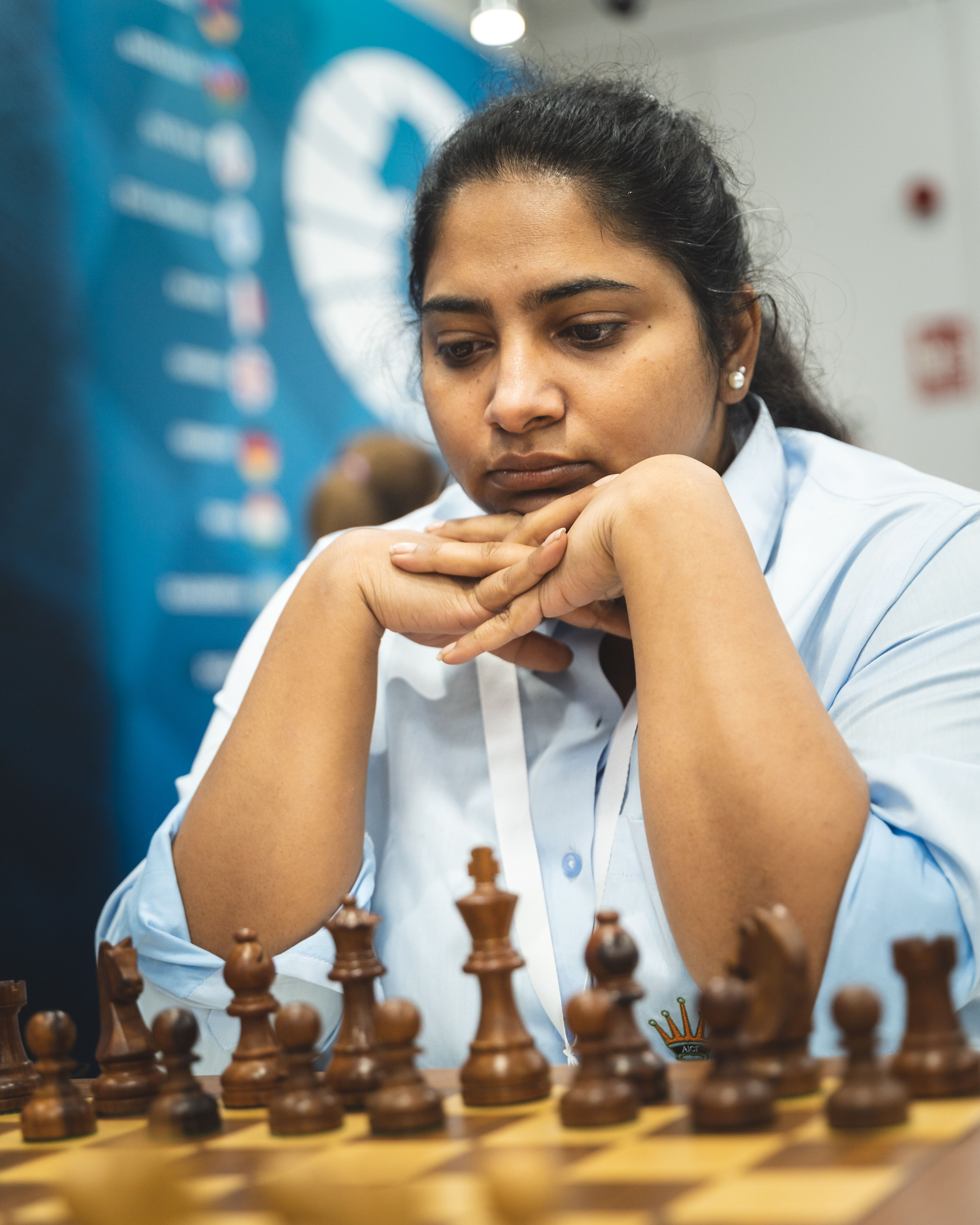 Indian WGM Mary Ann Gomes at the Women's World Team Championship