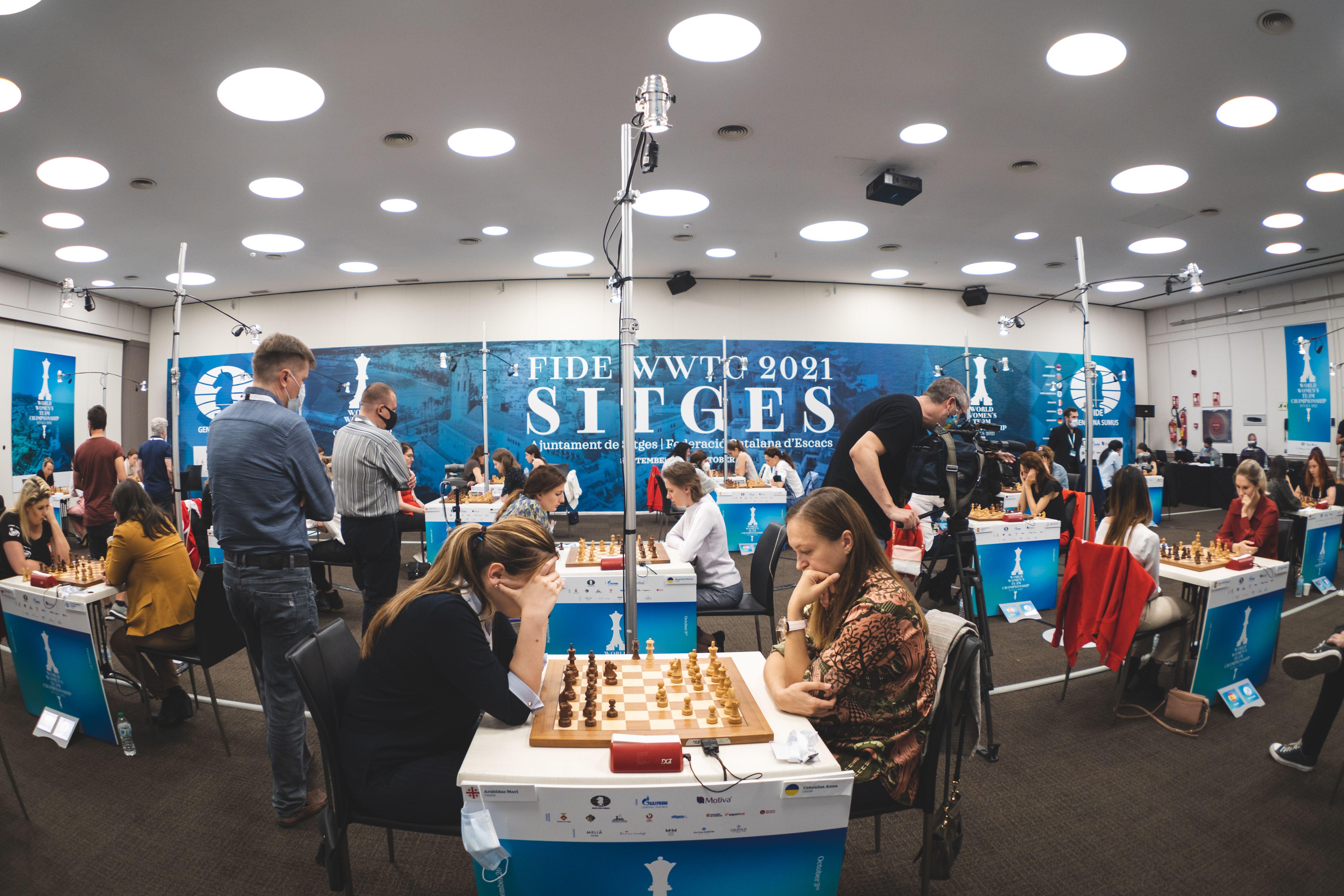 Командный чемпионат мира среди женщин - зал соревнований