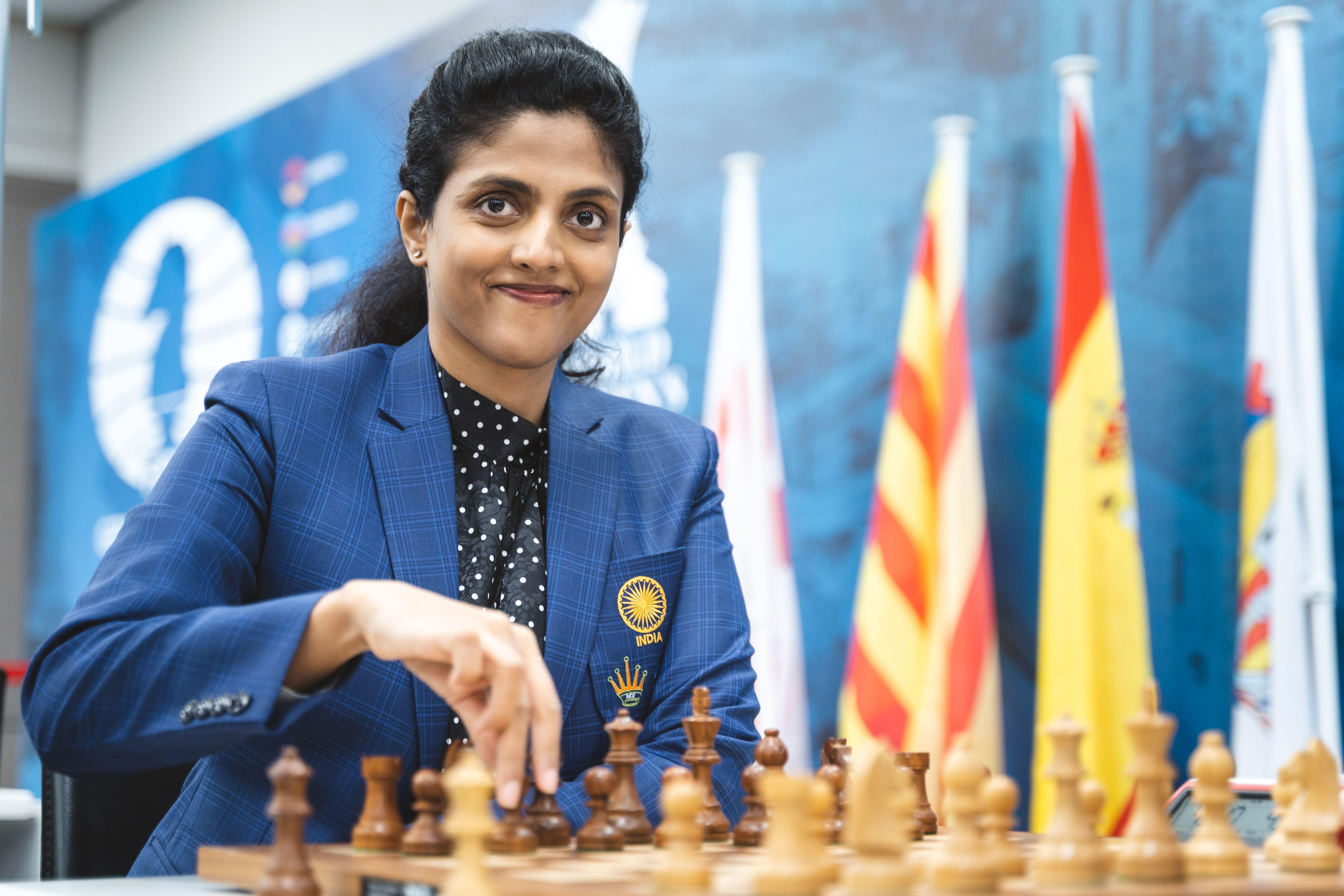 Гроссмейстер Индии Харика на командном чемпионате мира среди женщин