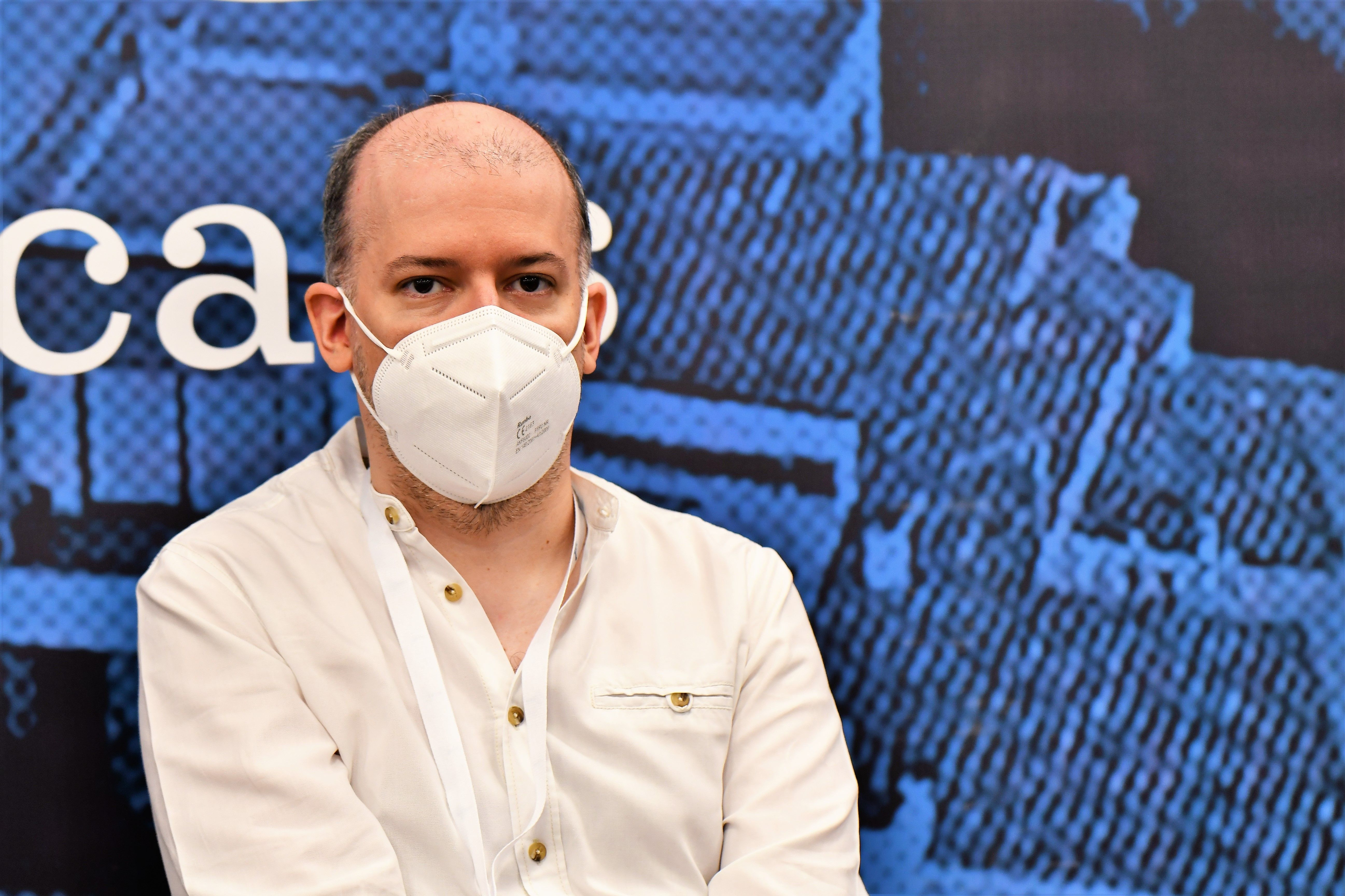 IM David Martinez, coach of the Spanish team at the Women's Chess Olympiad
